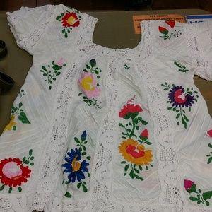 Beautiful handmade vintage embroidered shirt